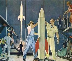 Alexander Deineka, Conquerors of Space, 1961