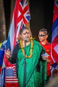 Vandana Shiva in Hawaii. (Photo: Kai Markell)