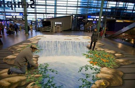 Road 3D arts-Waterfall-Amsterdam-Airport