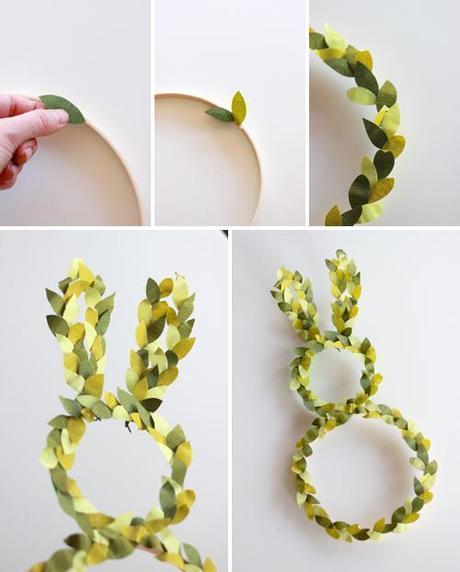 Bunny topiary wreath for your door