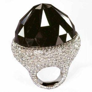 The Spirit of De Grisogono Black Diamond, black diamond ring, largest black diamonds