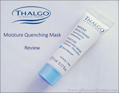 Thalgo Moisture Quenching Mask Review