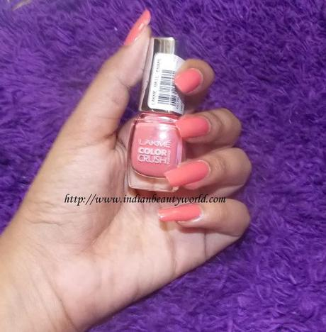 Lakme Color Crush True Wear Nail Polish Review And Swatches