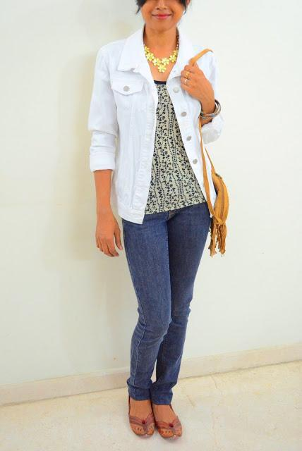 Of white denim jackets and comfort...