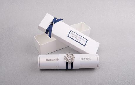 wedding invitations scroll 'Imogen'