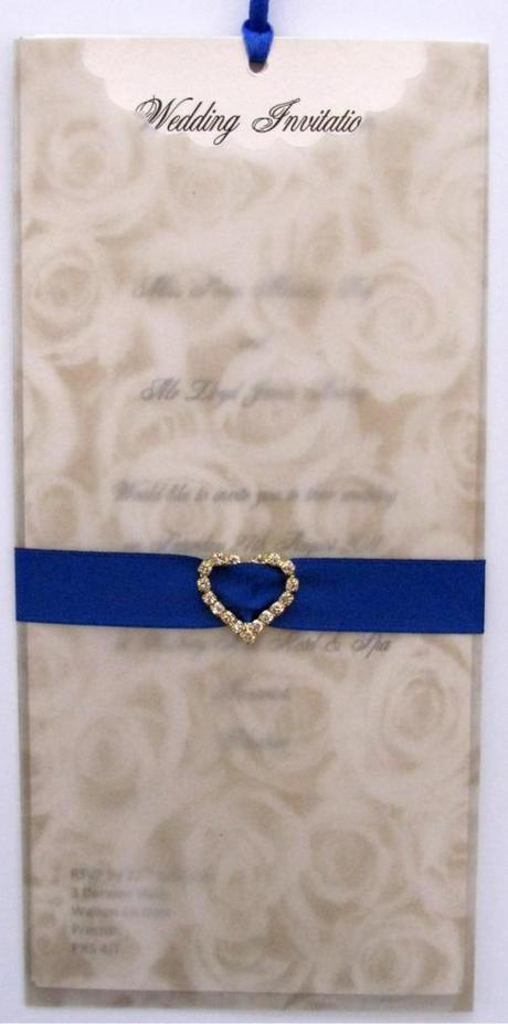 wallet wedding invitation