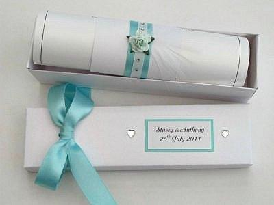 wedding invitation scroll