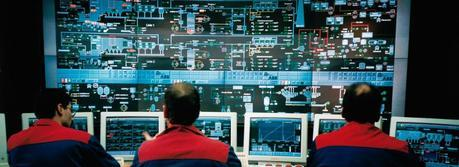 Control room of a moving grate incinerator (Published on Wikipedia with the permission of ''VGB Power Tech GmbH'' Germany Source of foto: ''Steag'', Germany)