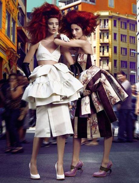 Cris Herrmann & Carol Thaler for Vogue Brazil April 2013 in...