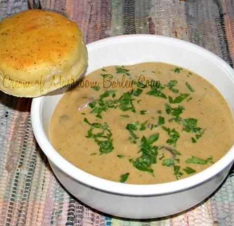 Cream of Mushroom Barley Soup and How to Organize Your Produce Bin