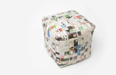 paper fix | newspaper stool