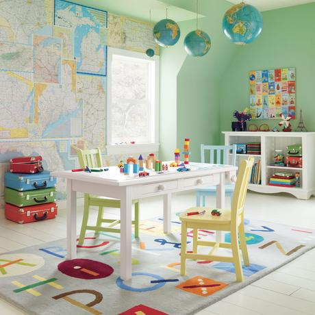 Think Global - Maps and Globes in Kids' Rooms Clippings