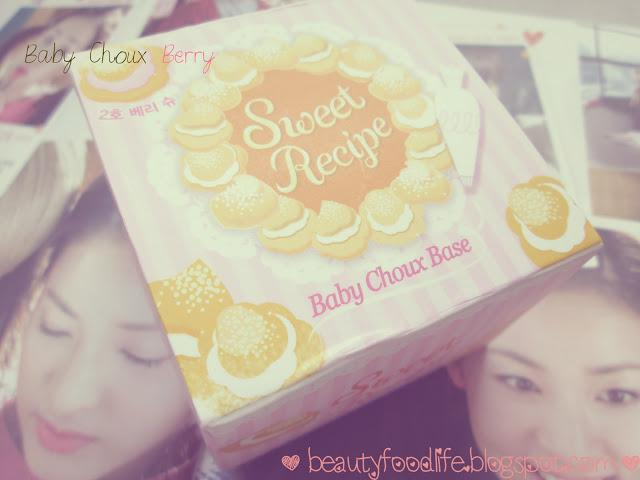 Etude House sweet recipe review, Sweet recipe baby choux Berry review, base make up, korean base make up review, beautyfoodlife.blogspot.com