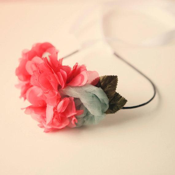 beautyfoodlife.blogspot.com,vintage flower hair band 'set fire to the rain'