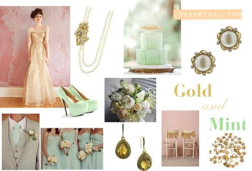 Wedding Colors Of 2013 Gold And Mint