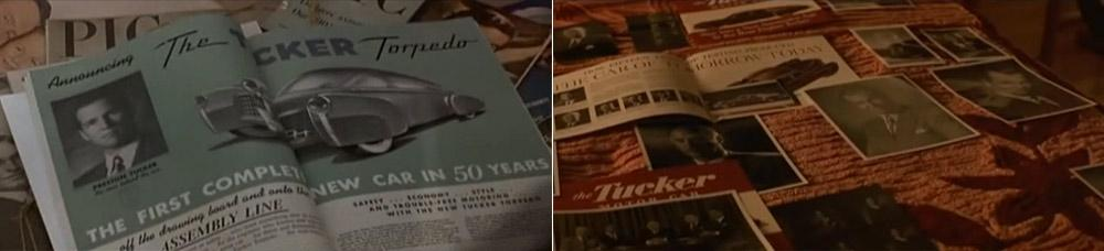 Tucker Torpedo vintage advertisement in Francis Ford Coppola movie Tucker