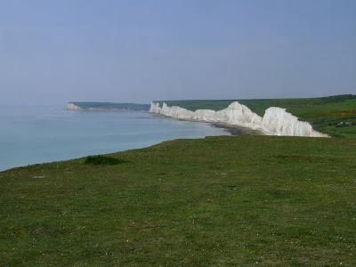 Panorama of The Seven Sisters, England
