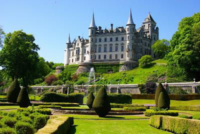 Dunrobin Castle in the Highland area of Scotland.