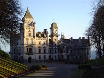 Dunrobin Castle with the Clock Tower