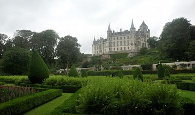 Dunrobin Castle seen from the gardens