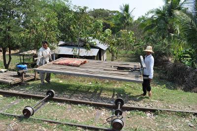 Bamboo train near Battambang