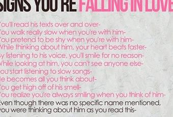 First signs of falling in love