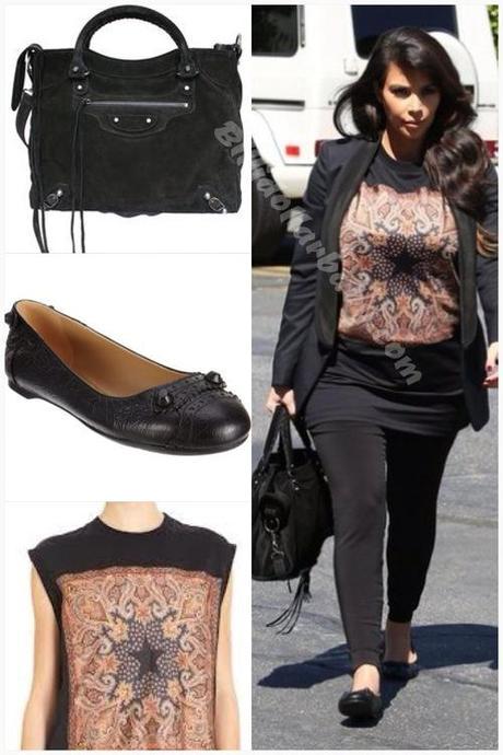 Kim Kardashian out about in LA wearing Balenciaga and...