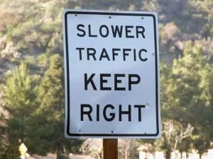 I see these up and down the highway, but more and more drivers ignoring them.