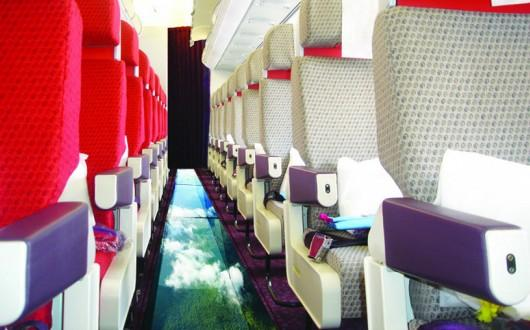 Virgin Atlantic glass-bottomed plane