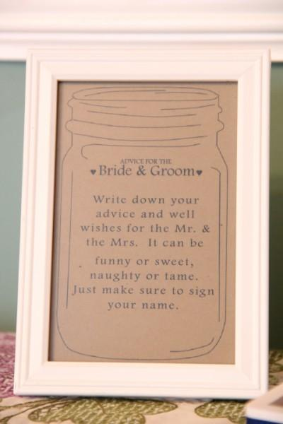 Diy Bride And Groom Advice Cards