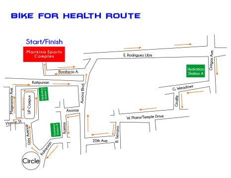 Bike for Health Race Route