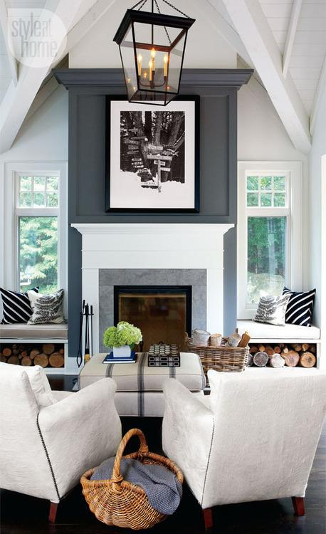 Decorating Around Fireplace decorating around a fireplace - paperblog