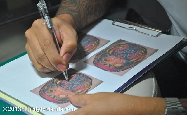 Fuse Tattoo Artist Papa Dhong Stenciling