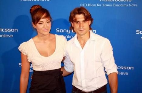 David Ferrer with Fiancée Marta Tornel