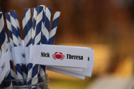 IMG 0895 650x433 DIY Crab Wedding Paper Flags