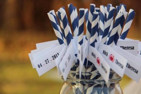 IMG 0890 650x433 DIY Crab Wedding Paper Flags