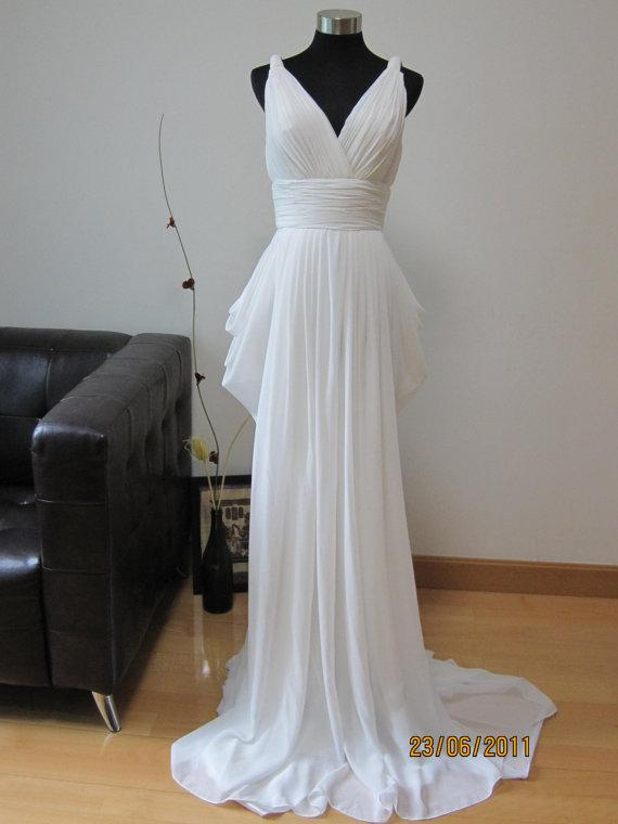 Aisle style grecian style wedding gowns paperblog for Greek style wedding dress