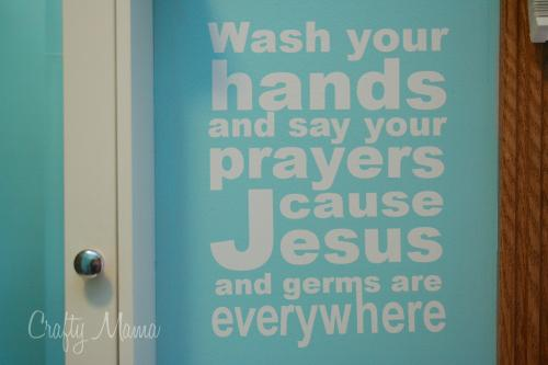 Wash Your Hands Vinyl Decal – Free Silhouette Cameo Download