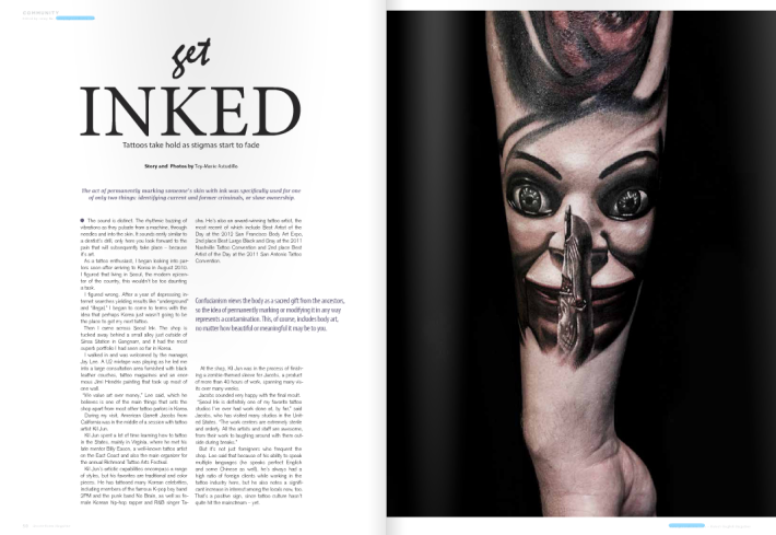 how to get into inked magazine