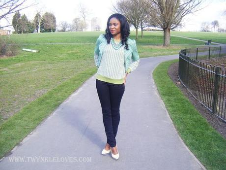 Today I'm Wearing: Knitted Green Layers
