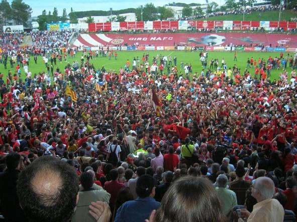 Will Girona fans be celebrating promotion to La Liga soon? Courtesey of arnaugir