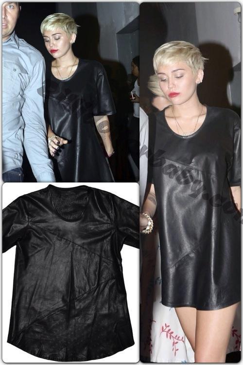 Miley Cyrus Parties in Miami Wearing En Noir 91de9d8e8