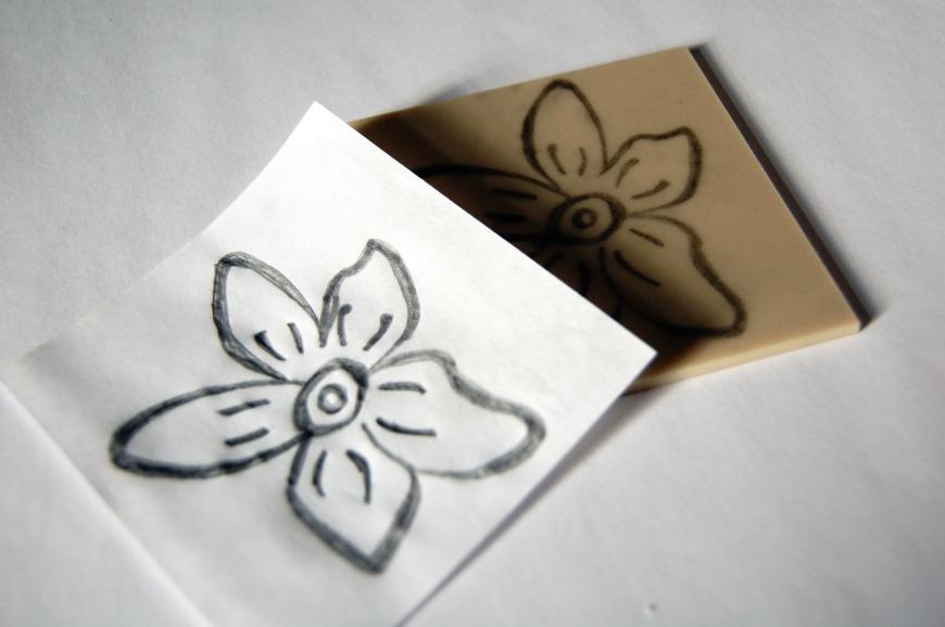 DIY Tutorial: Make Your Own Lino-cut Stamp - Paperblog