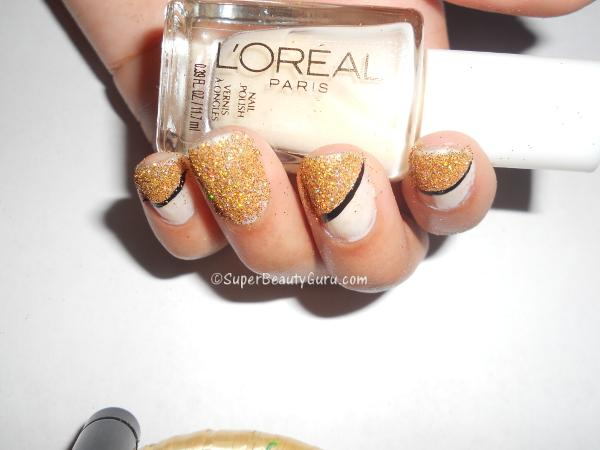 How to make glitter nail designs