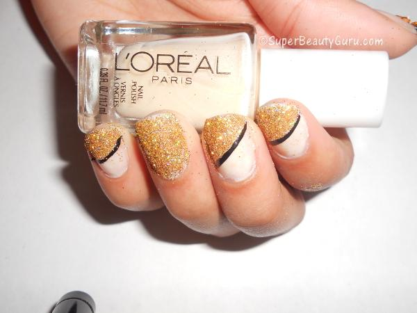 How to use loose glitter on nails