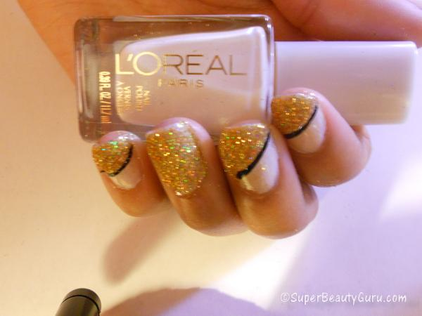 use loose glitter on nails tutorial