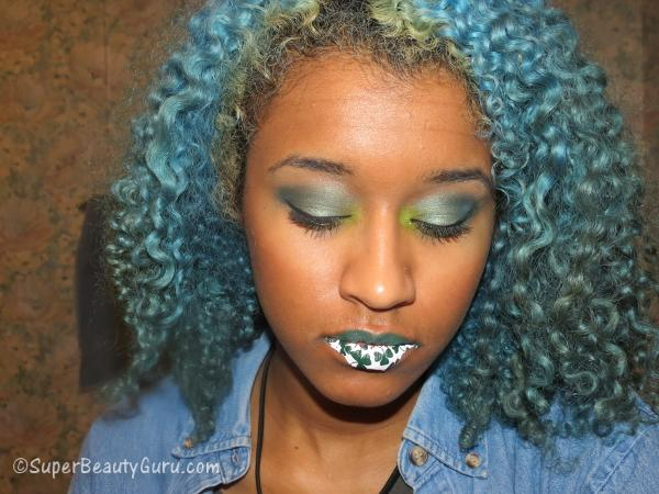 St. Patrick's Day Makeup Tutorial Lip Tattoo