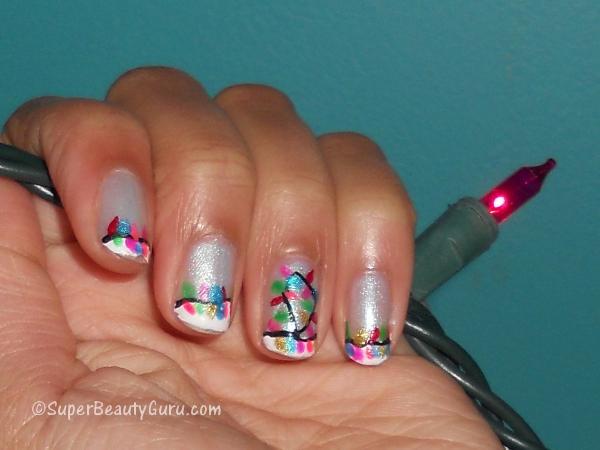 christmas lights nail tutorial