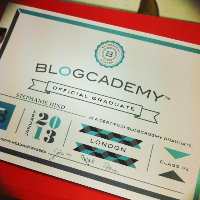 Blogcademy graduation