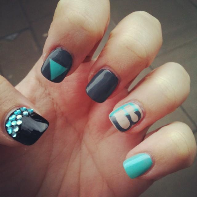 Blogcademy branded nail art